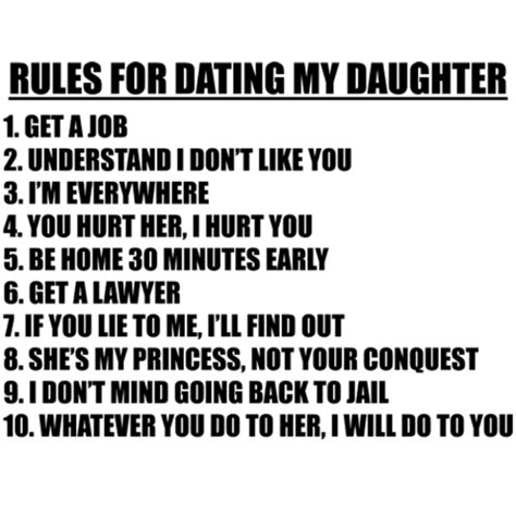 the ten rules for dating my teenage daughter png 500x500